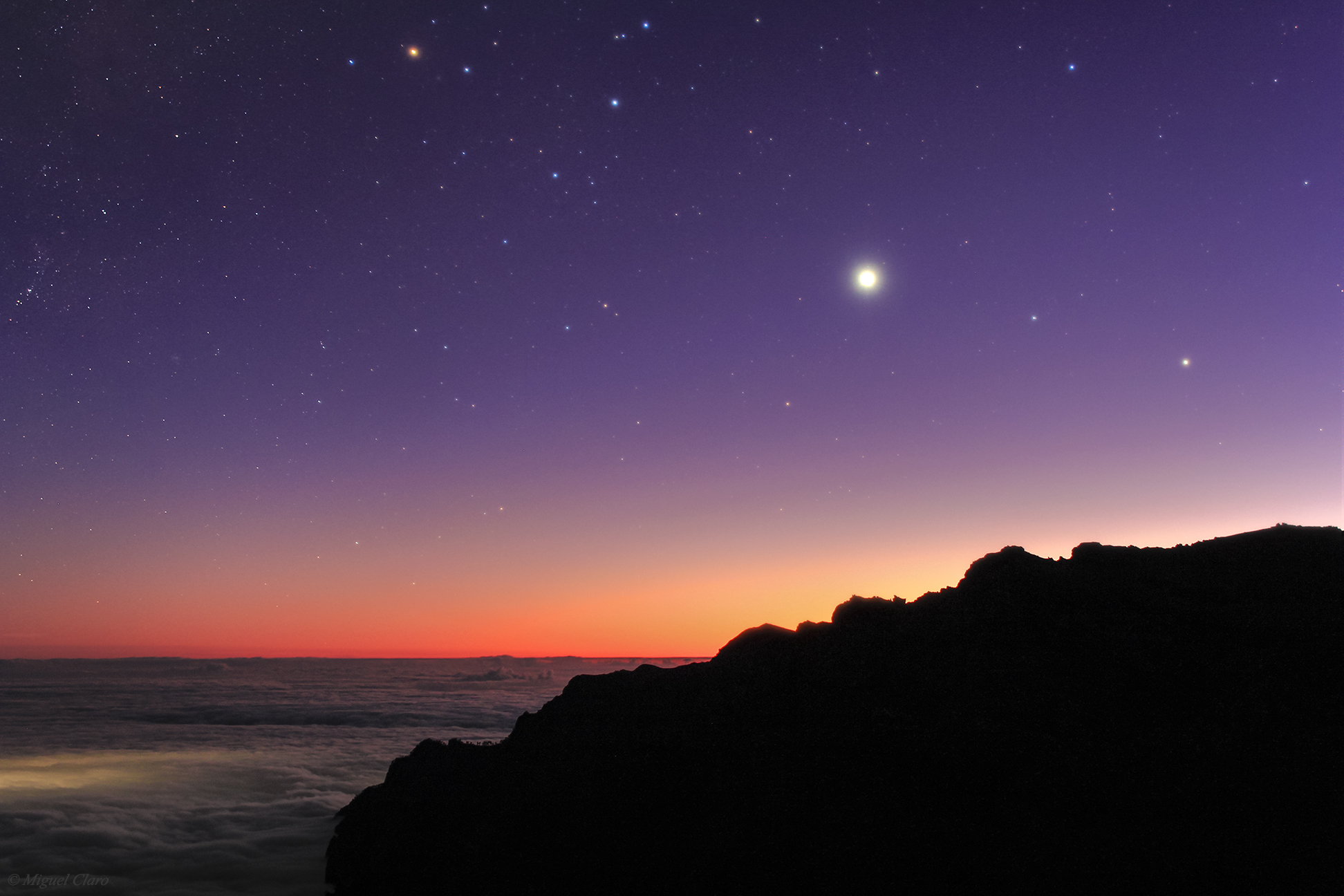 <h5>Venus and Saturn in Libra from Los Andenes</h5>