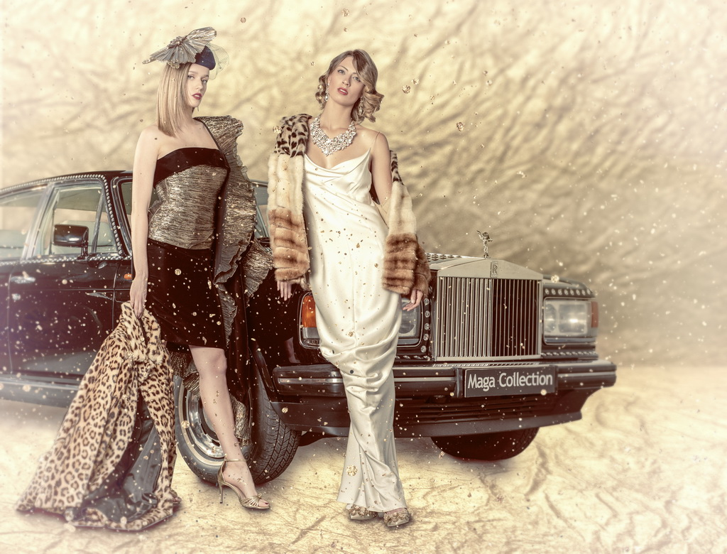 "<h5>In life, there is not only money...</h5><p>Givenchy's and their favourite clients. In life, there is not only money but also cars, leather and Swarovski crystals which also decorate this ""Silver Spirit"" from the 80s.</p>"